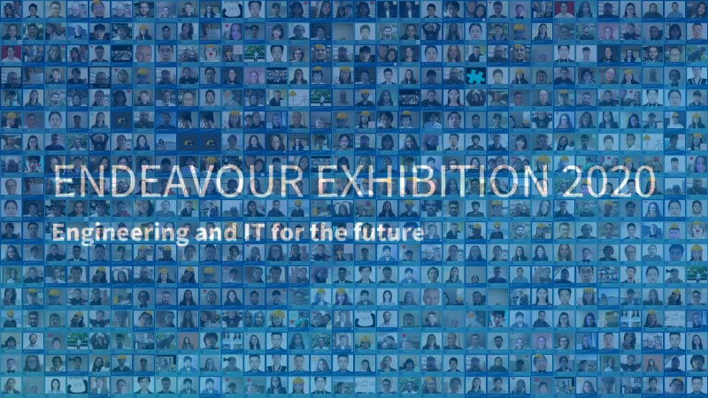A photo mosaic of the staff and students involved in the Exhibition
